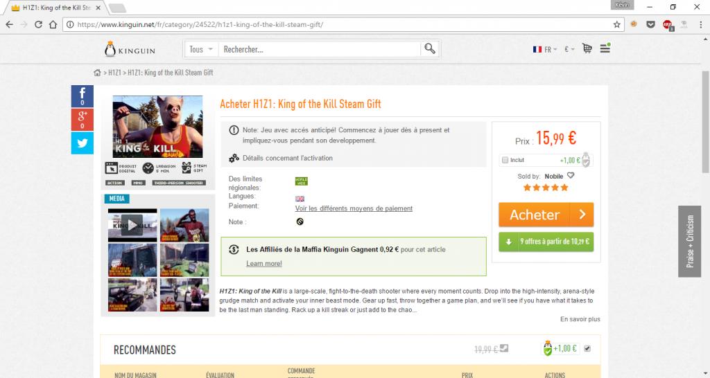 On gagne 2 à 3€ sur ce jeu comparé au prix Steam.