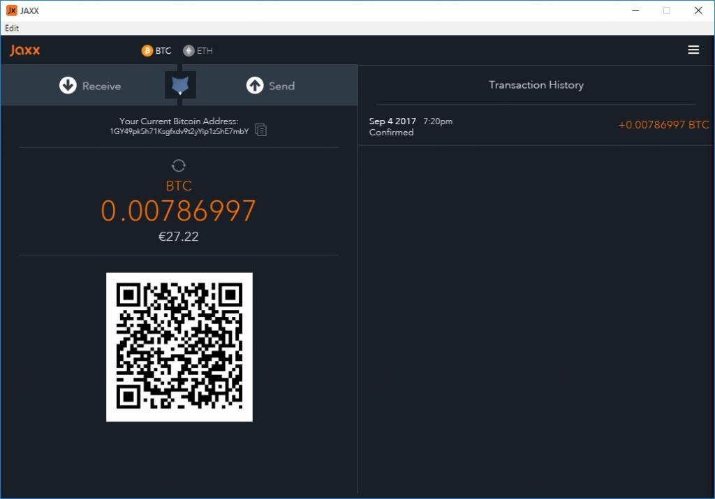 Wallet Jaxx Bitcoin