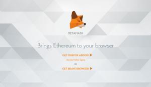 Metamask extension pour navigateur permettant d'accéder aux applications décentralisées