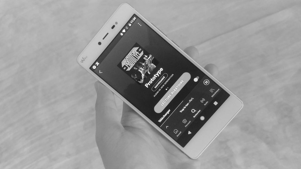 Spotify sur un smartphone Android