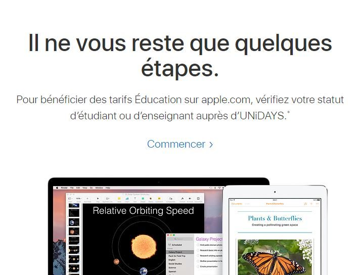 Réduction prix Apple, Macbook, Macbook Pro et iPad par Unidays.