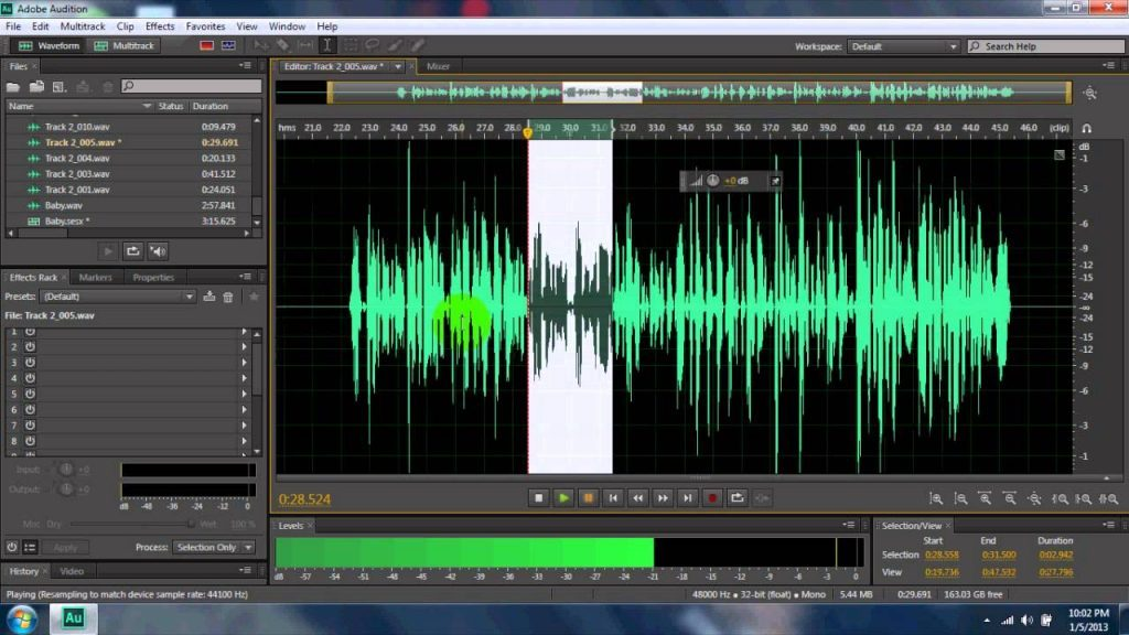 Edition de fichiers FLAC sur Adobe Audition