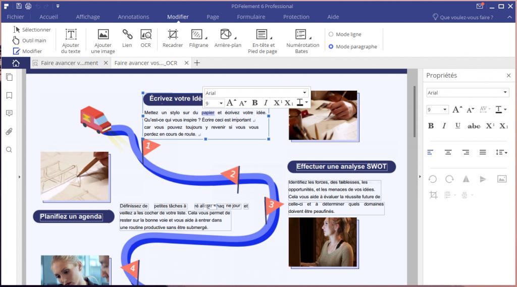 Reconnaissance de texte sur un fichier PDF