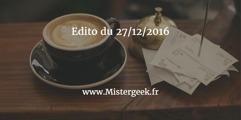 Edito du 27/12/2016