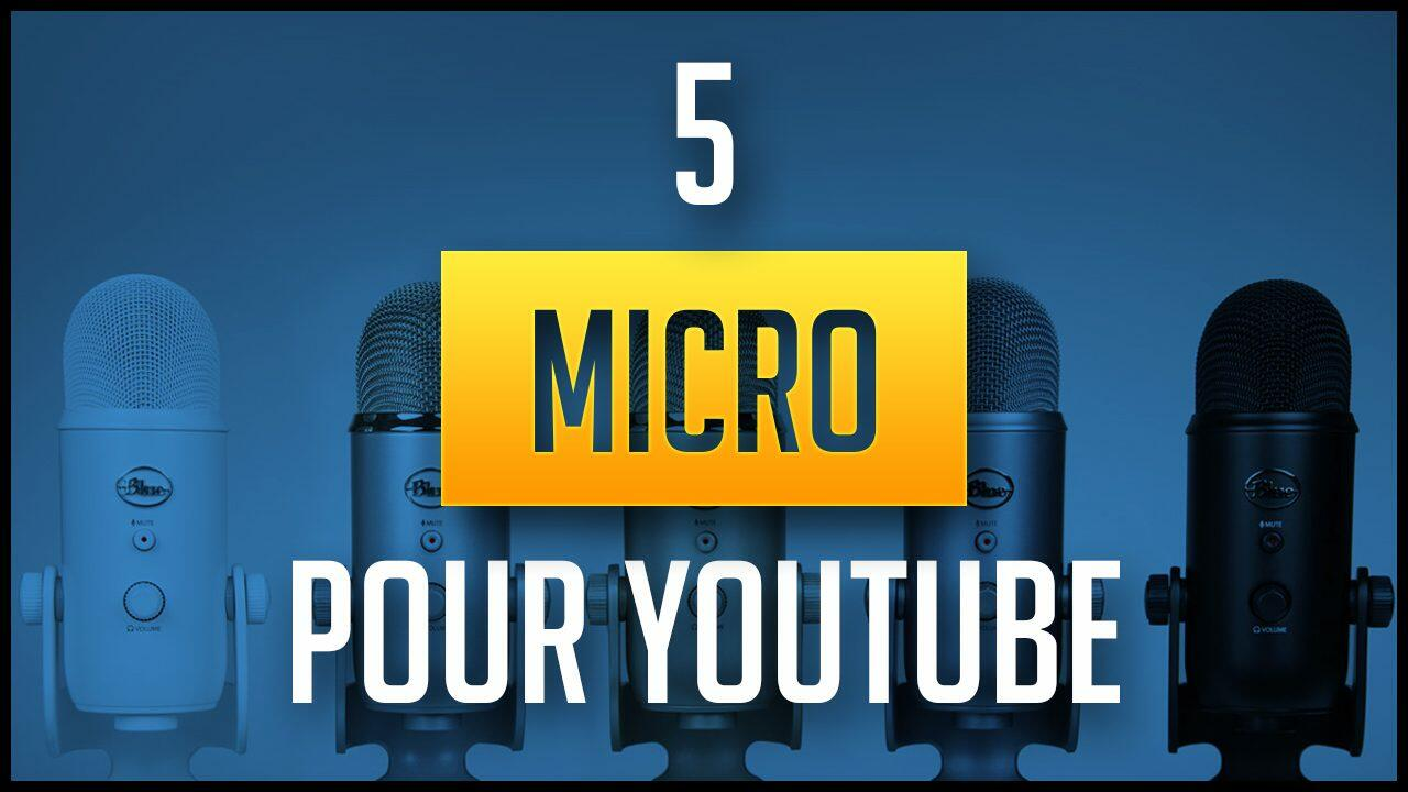 Top 5 des meilleurs microphones pour YouTube