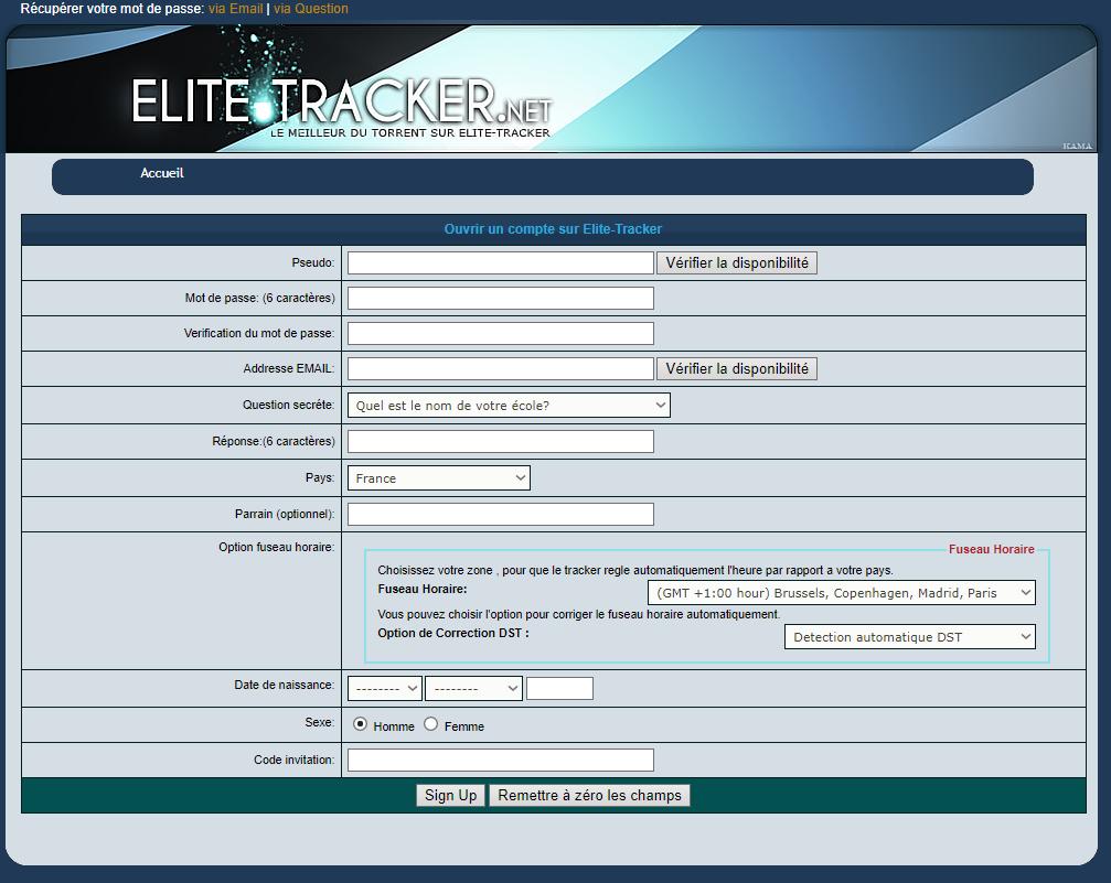 Elite Tracker est un très bon tracker privé