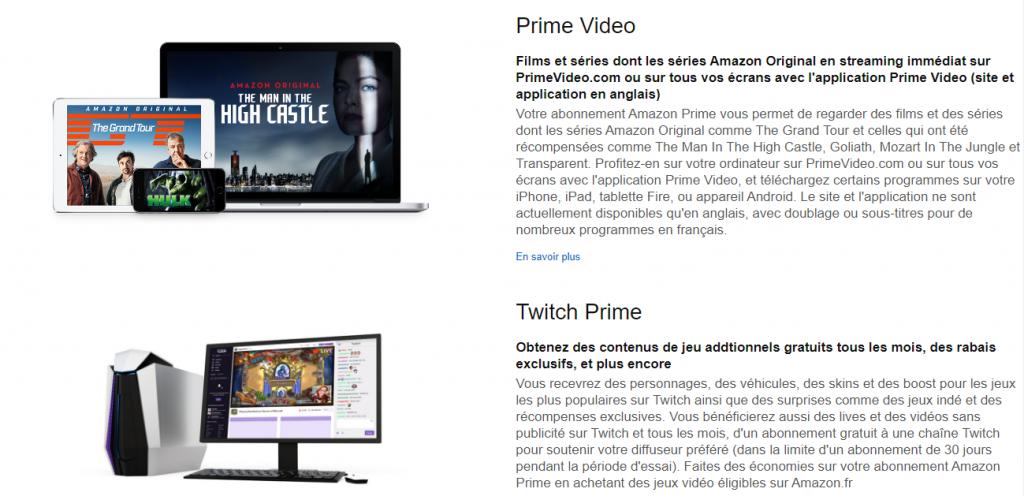 Amazon Prime Video et Twitch Prime dans le même abonnement