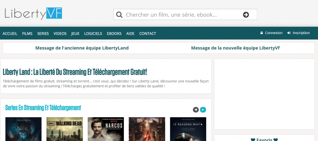 Libertyland a changé d'adresse pour devenir LibertyVF.com
