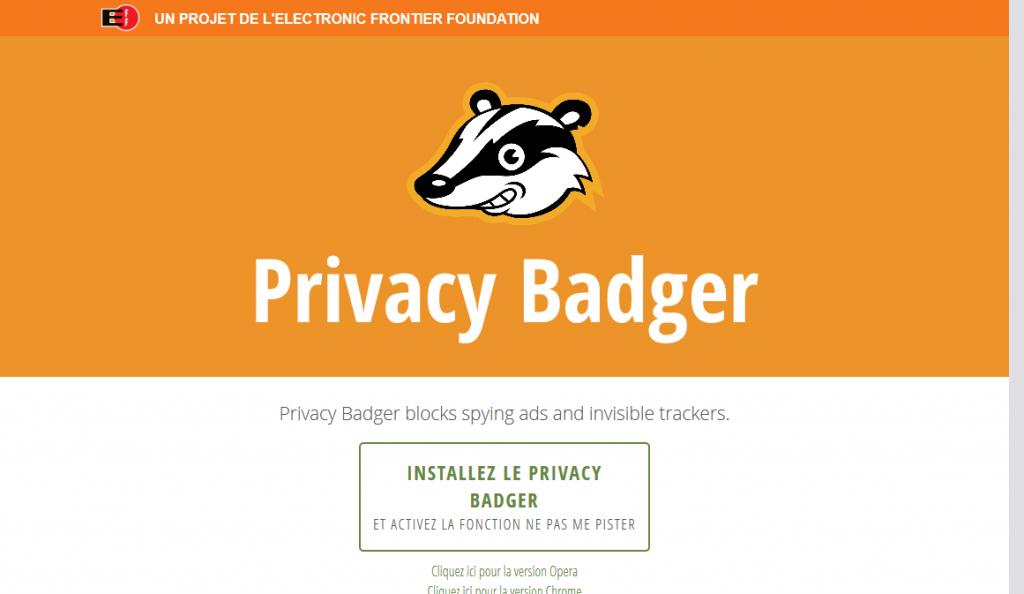privacy badger extension vie privee