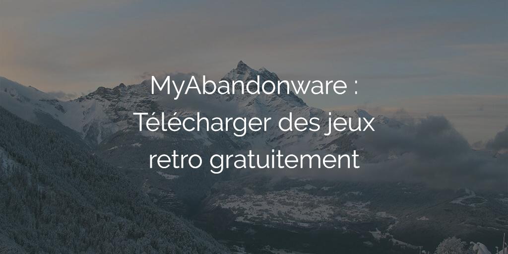 MyAbandonware : télécharger des anciens jeux