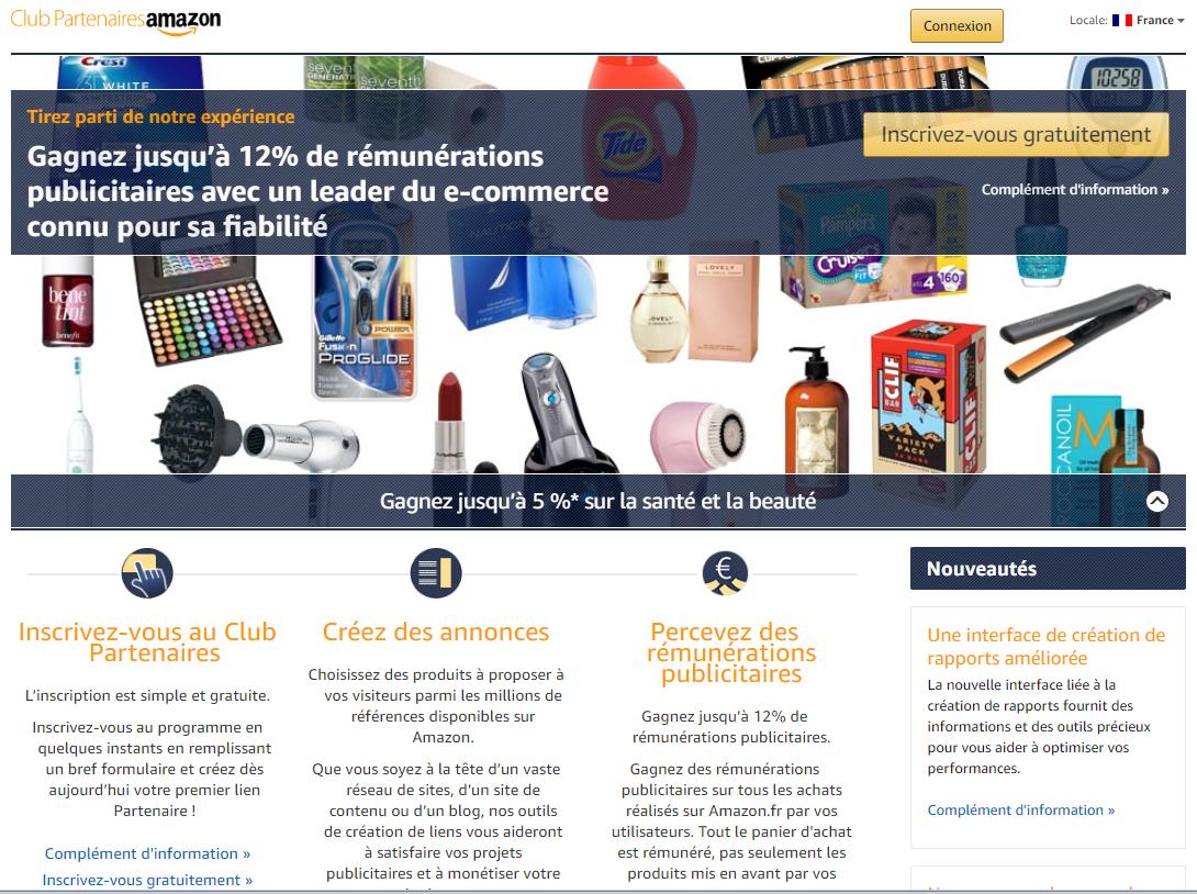 Devenir partenaire Amazon au programme d'affiliation.