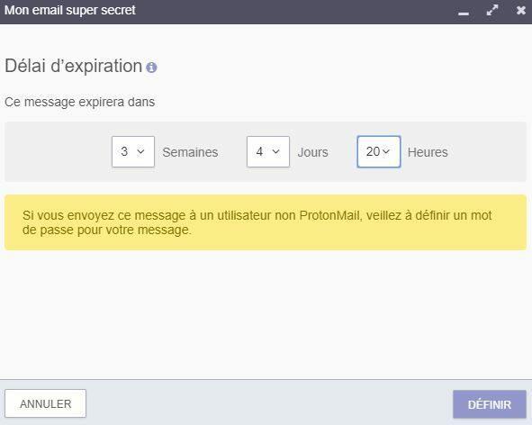 email secret protonmail