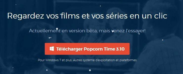Popcorn time utilise du Bittorent pour faire du streaming