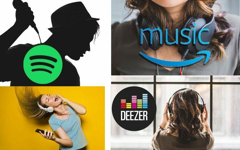 Plateformes de streaming de musique : Deezer, Spotfy & Amazon