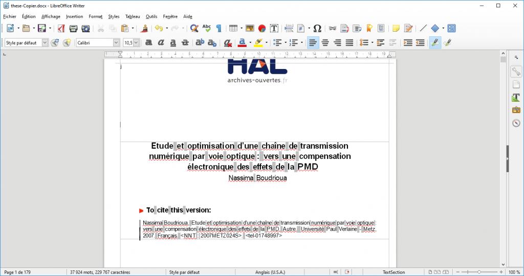 Edition d'un fichier PDF sur Word