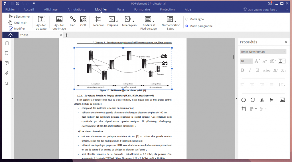 Edition d'un fichier PDF avec PDFelement