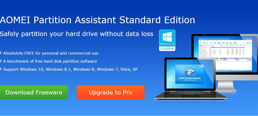 [Test] AOMEI Partition Assistant : utilitaire de disque