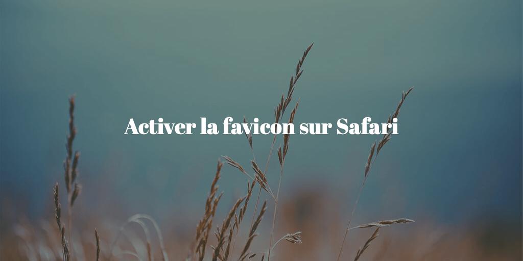 Comment afficher la favicon dans les onglets Safari sur Mac