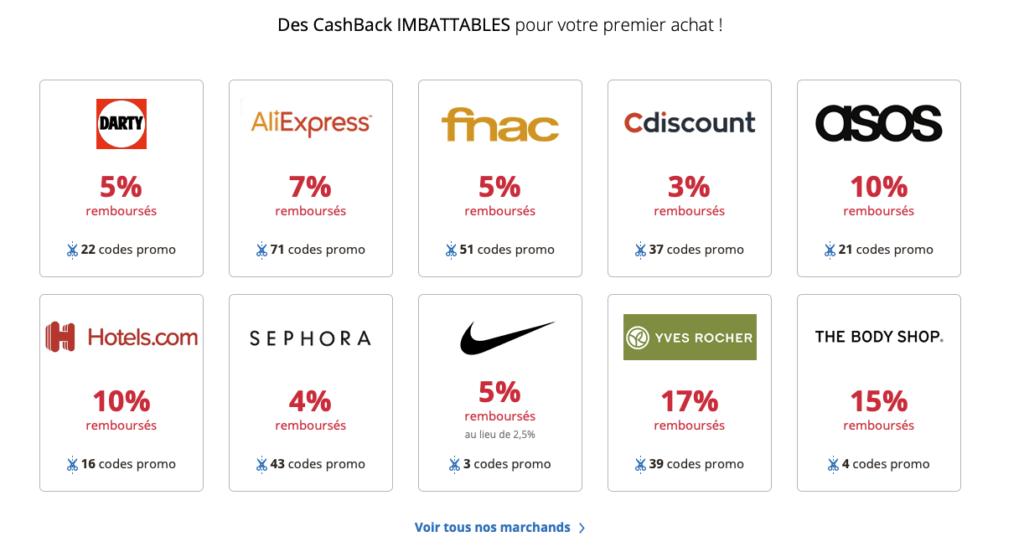 Marques partenaires d'eBuyClub