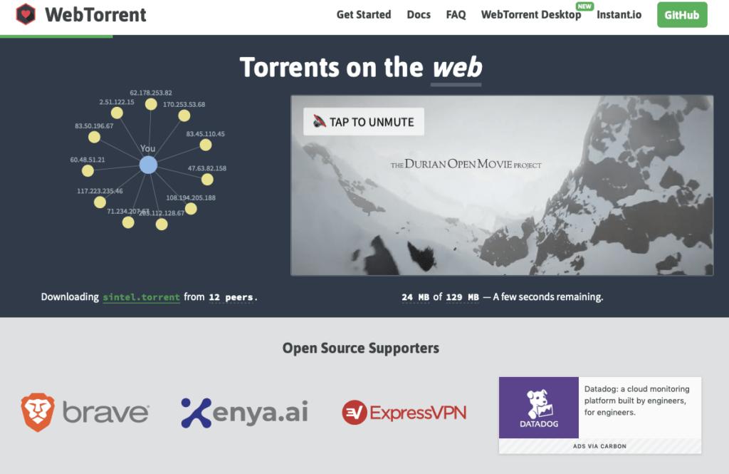Streaming vidéo avec WebTorrent