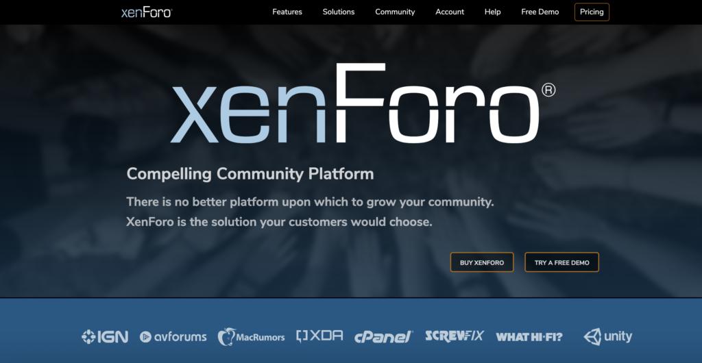 Site web officiel de XenForo
