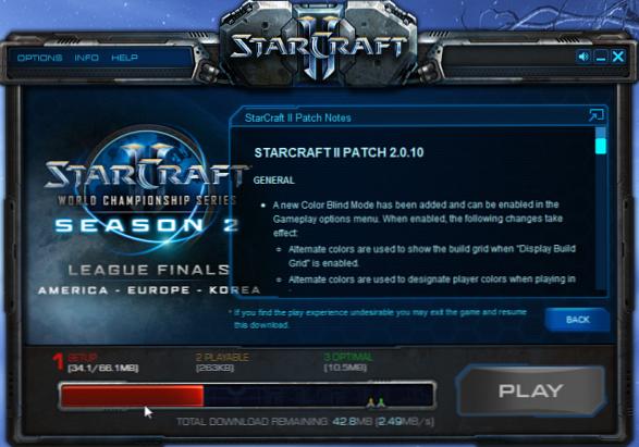 Client de Starcraft 2 utilisant le protocole BitTorrent pour le téléchargement de jeu vidéo
