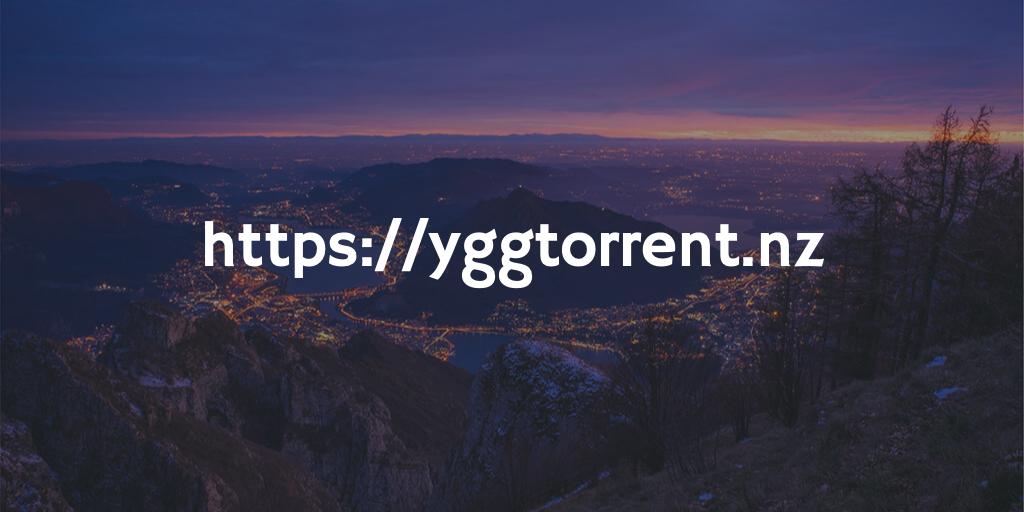 Quelle est l'adresse 2021 officielle du site Yggtorrent ?